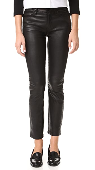 FRAME Le High Straight Leather Pants