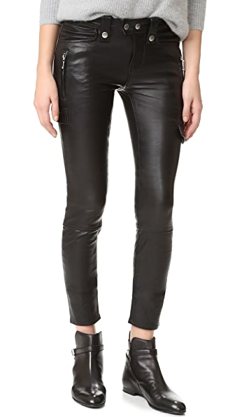 FRAME Moto Skinny Pants - Noir