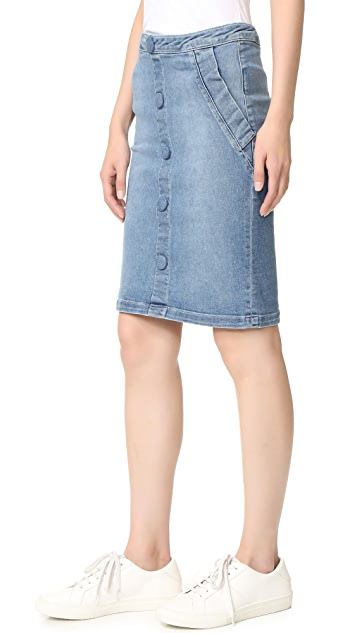 FRAME Le Pencil Buttoned Skirt