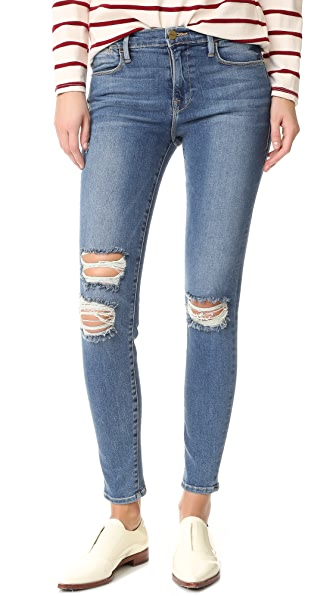 FRAME Le High Skinny Jeans - Navy Yard