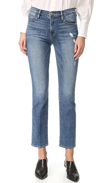 FRAME Le High Straight Jeans