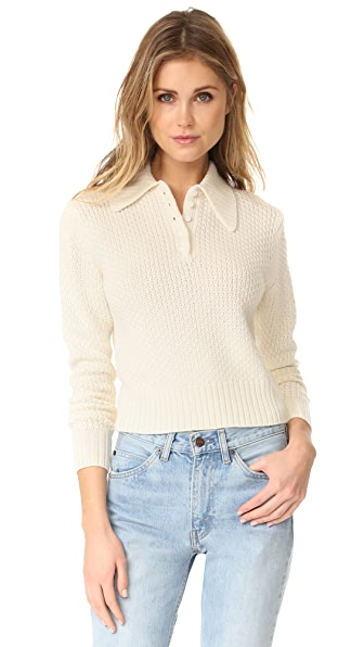 FRAME Button Shawl Collar Sweater