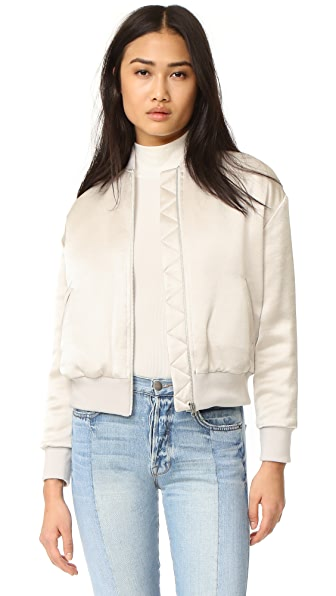 FRAME Satin Bomber Jacket