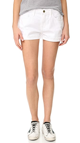 FRAME Le Garcon Shorts In Blanc