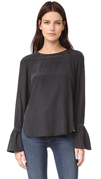 FRAME Voluminous Cuff Blouse