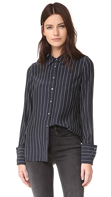 FRAME Double Cuff Blouse