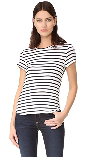 FRAME Classic Crew - Navy/Blanc Nautical Stripe