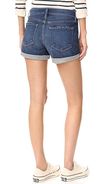 FRAME Le Cutoff Cuff Shorts