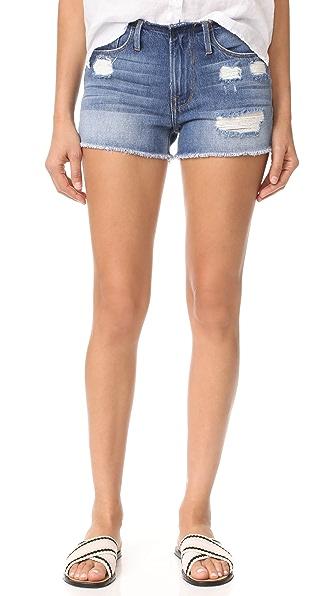 FRAME Le Cutoff Cuff Frayed Waist Shorts - Glenbarr