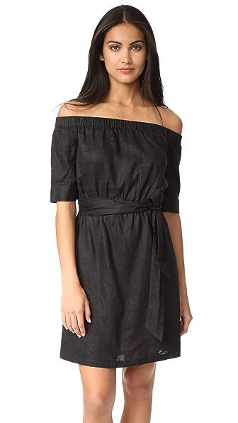 FRAME Off the Shoulder Dress In Noir