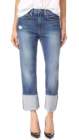 FRAME Le Oversized Cuff Jeans In Tipton