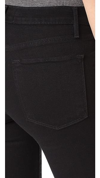 FRAME Le High Split-Front Skinny Jeans, Black