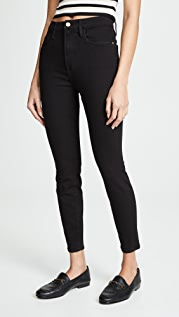 FRAME Ali High Rise Skinny Cropped Cigarette Jeans