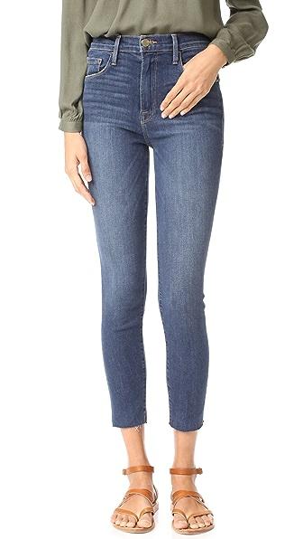 FRAME Ali High Rise Skinny Cigarette Jeans - Prescott
