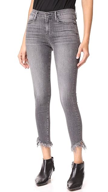 FRAME Le High Shredded Raw Skinny Jeans