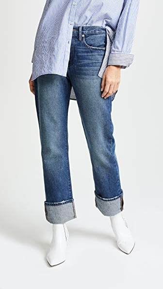FRAME Le Oversized Cuff Jeans