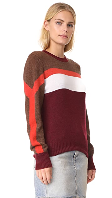 FRAME Colorblocked Cashmere Sweater