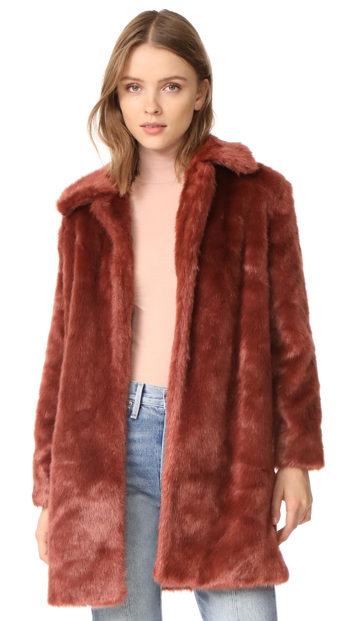FRAME Faux Fur Coat - Spice
