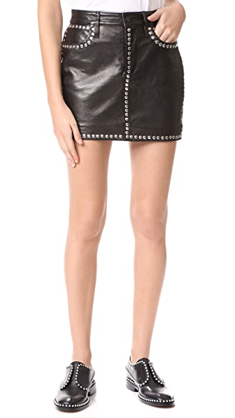 FRAME Studded Mini Skirt