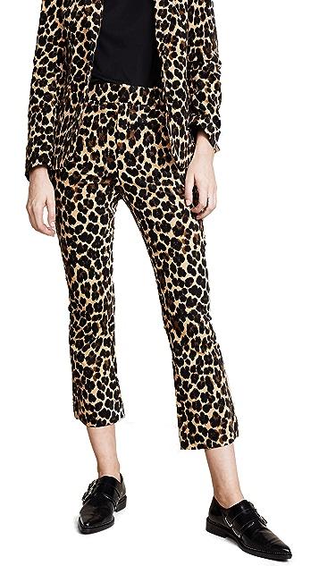 FRAME Cheetah Flare Trousers