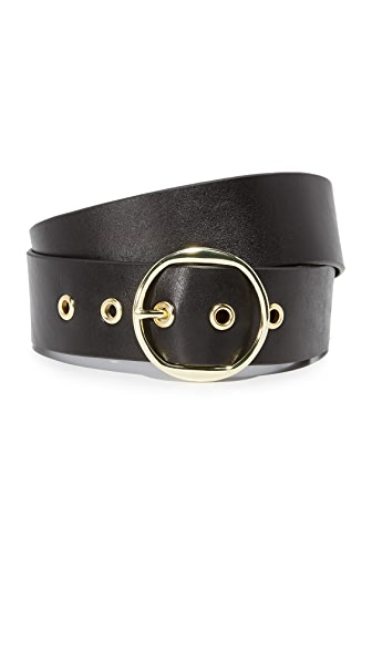 FRAME Grommet Belt In Noir