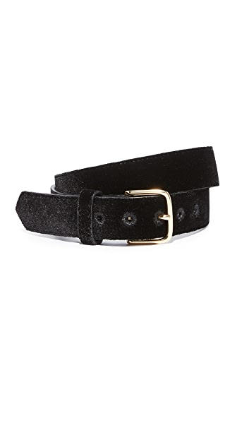 FRAME Velvet Belt In Noir