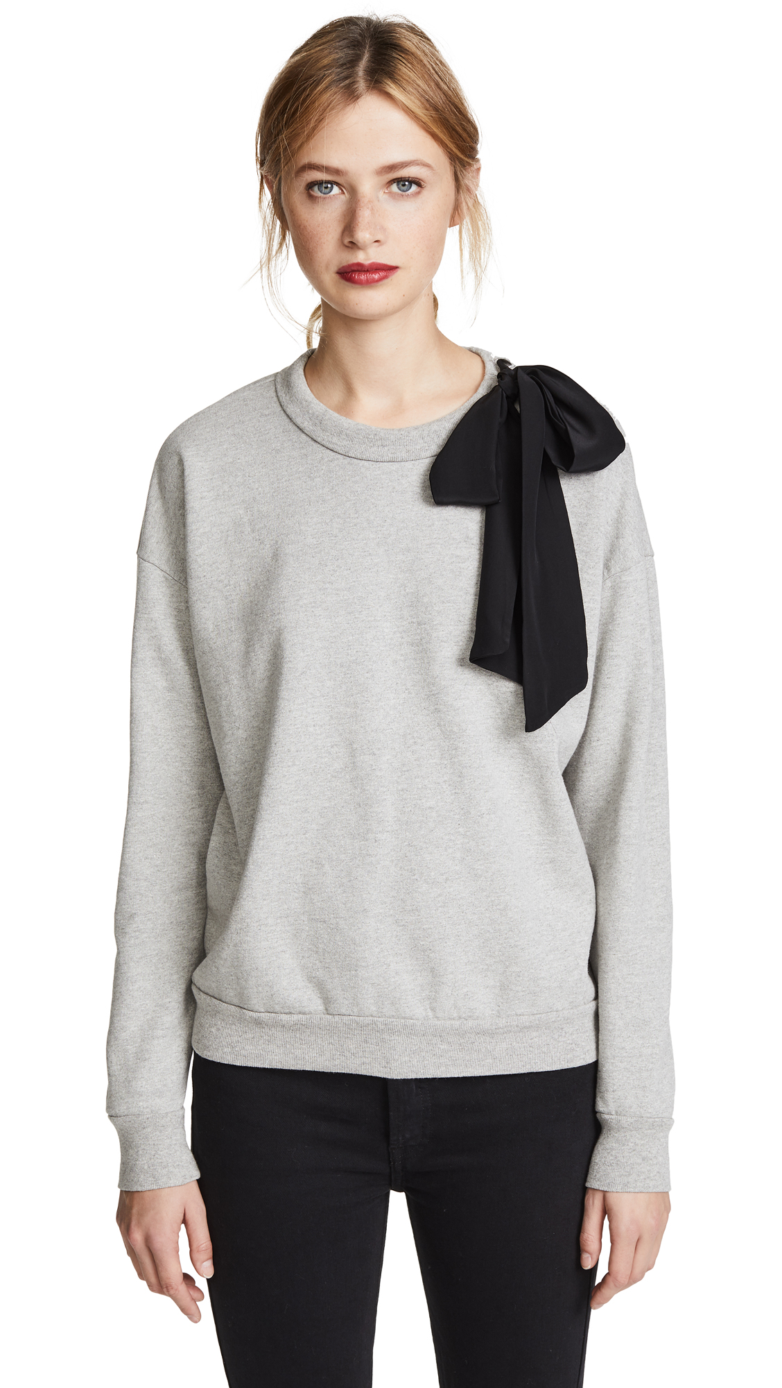 FRAME Bow Sweatshirt - Gris