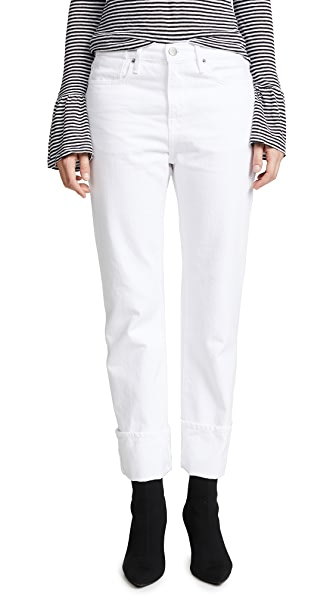 FRAME Le Oversized Jeans In Blanc