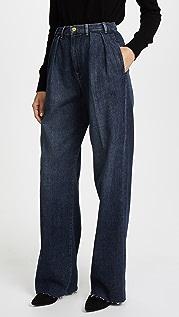 FRAME Свободные джинсы в стиле брюк Le с необработанными краями