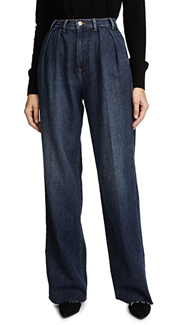FRAME Le Baggy Trouser Jeans with Raw Edge