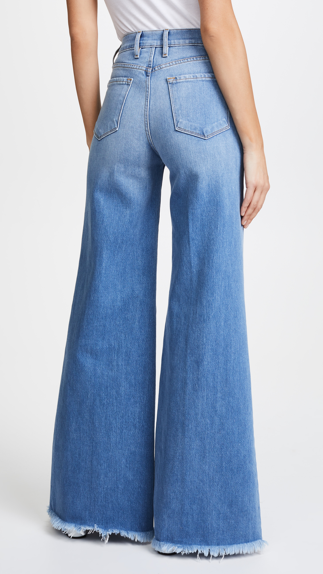 8f58f5faef FRAME Le Palazzo Pants with Raw Edge