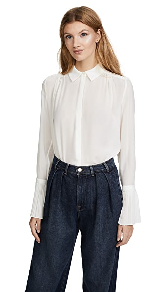 FRAME Pintucked Long Sleeve Blouse at Shopbop