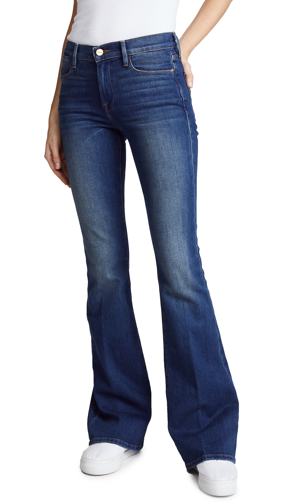 FRAME Le High Flare Jeans In Aldwoth