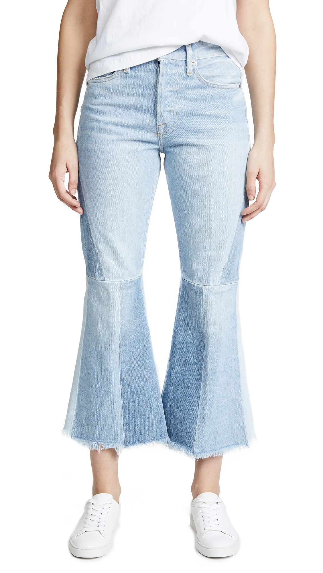FRAME Panel Block Cropped Jeans