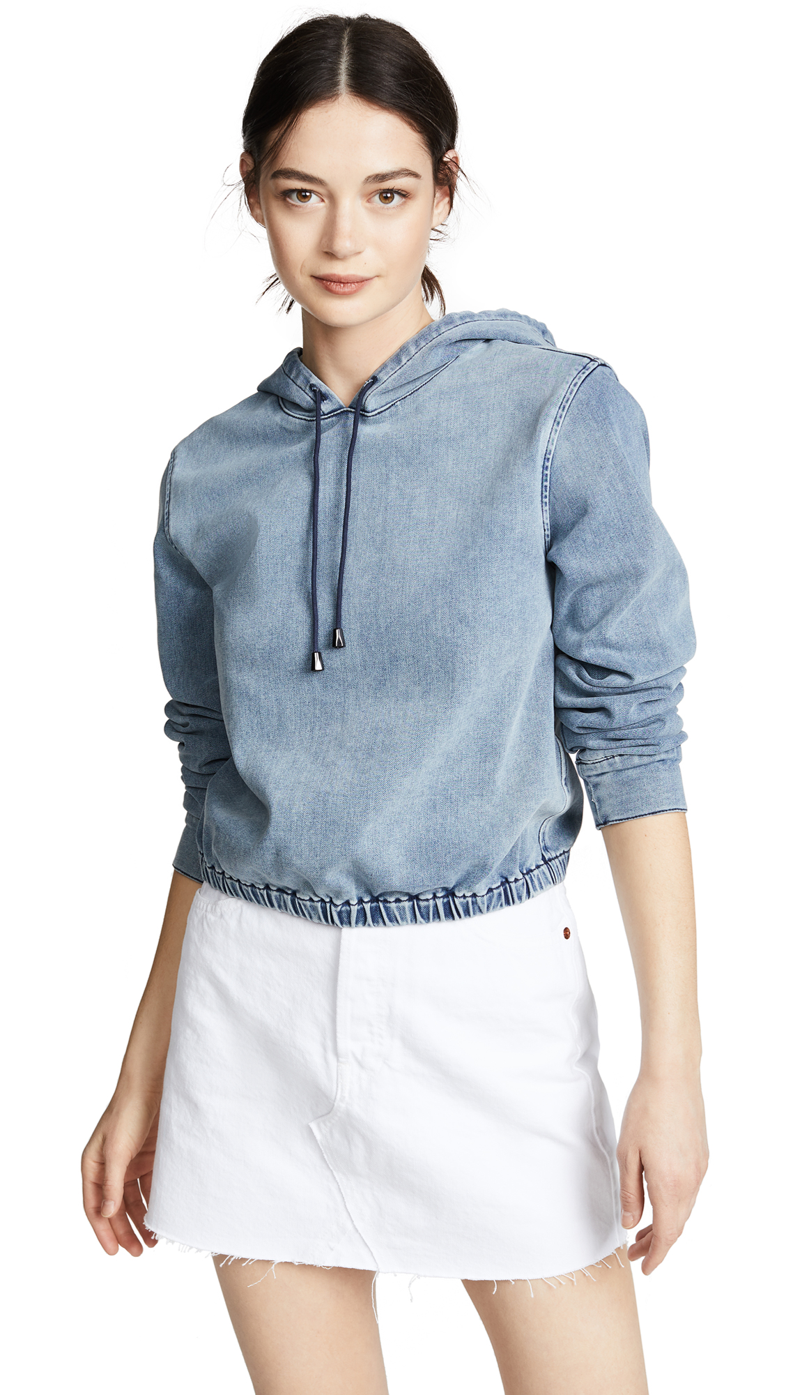 FRAME Cropped Hoodie In Lou Lou