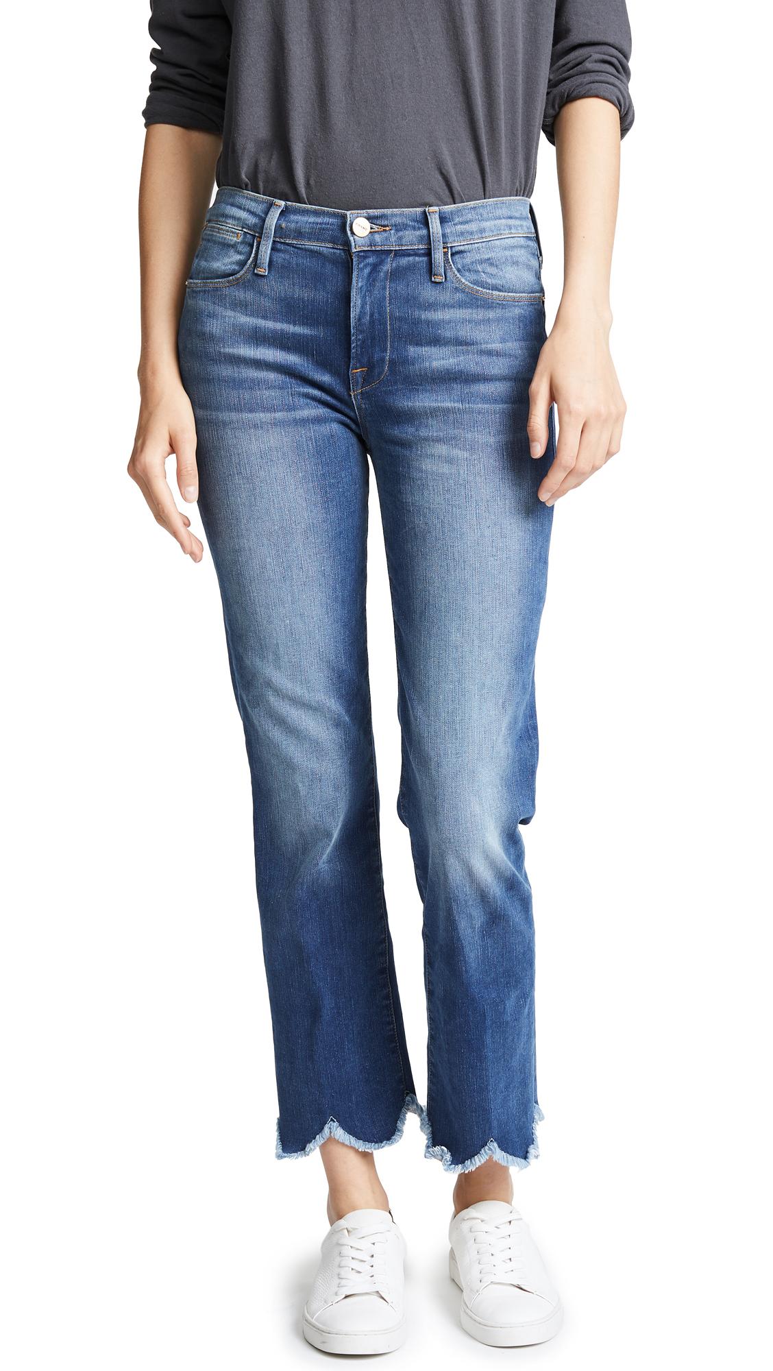 FRAME Le High Jagged Hem Jeans
