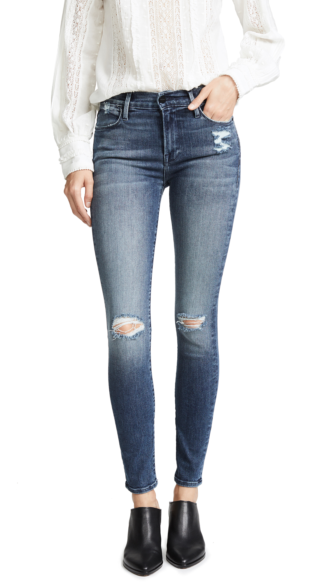 FRAME Le Skinny High Jeans In Magellan