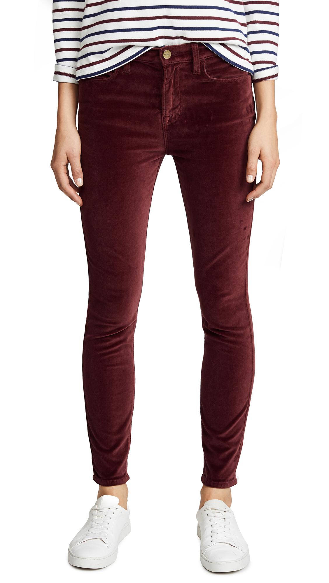 Le Velveteen High Skinny Jeans