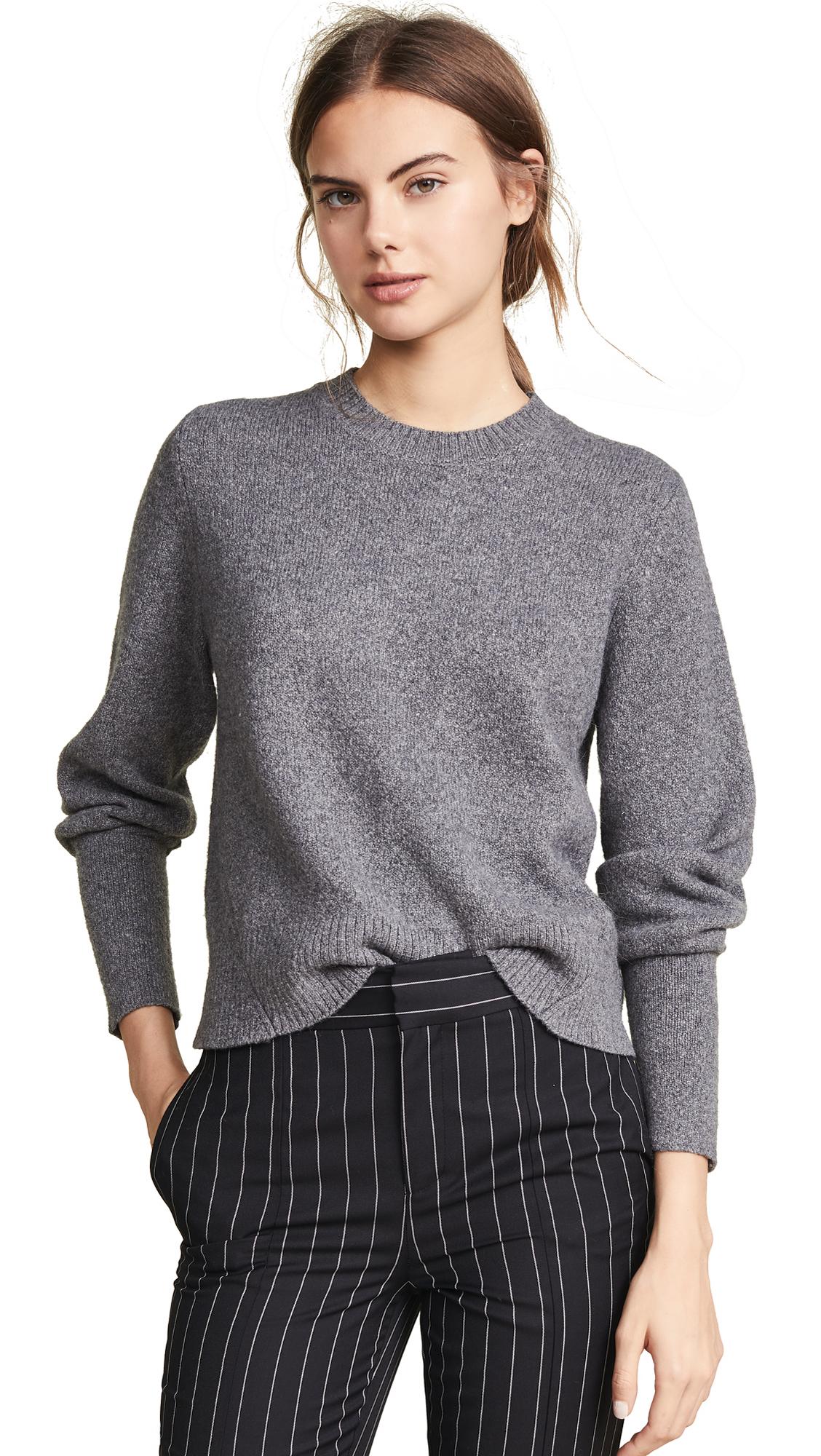 FRAME Chunky Wool Sweater - Charcoal