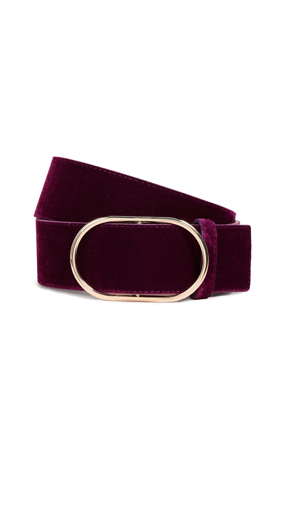 FRAME Oval Velvet Belt In Pinot