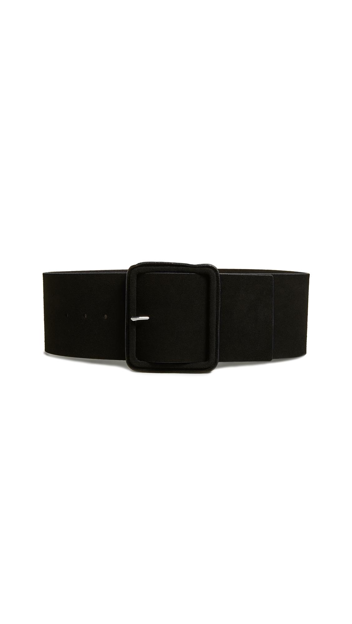 FRAME Wide Wrapped Belt In Noir