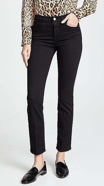 Frame Le High Straight High-rise Straight-leg Jeans In Film Noir