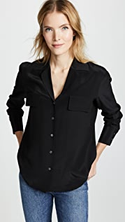 FRAME Pocket Silk Blouse