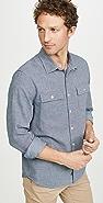 FRAME Long Sleeve Flap Pocket Shirt