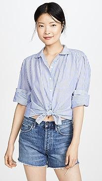 4d70a292 FRAME. Pleated Clean Collar Shirt