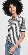 FRAME Cutoff Polo Shirt