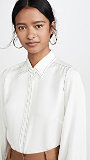 FRAME Рубашка с контрастными стежками в стиле 70-х гг.
