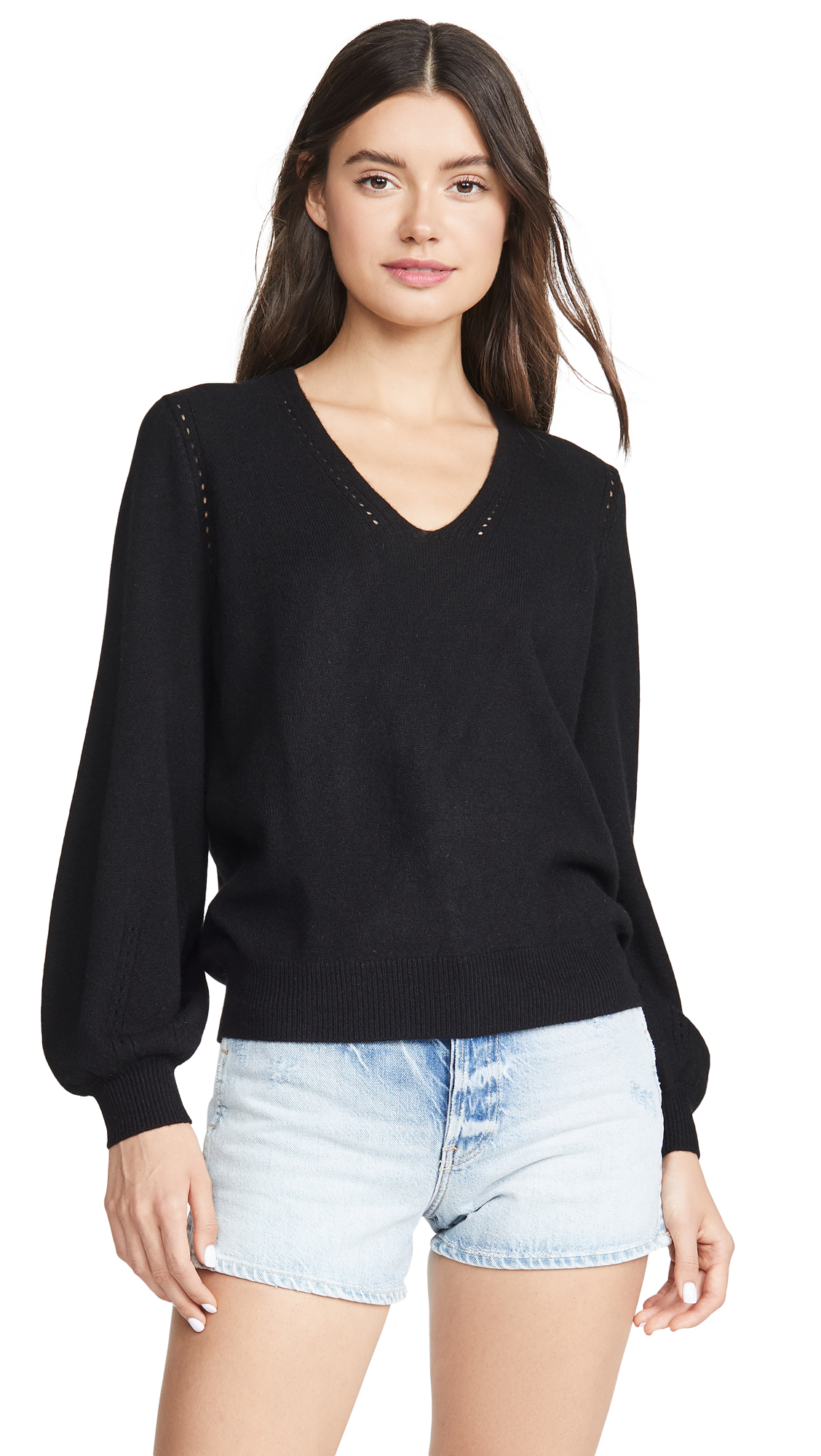 Buy FRAME online - photo of FRAME Pointelle Cashmere Sweater