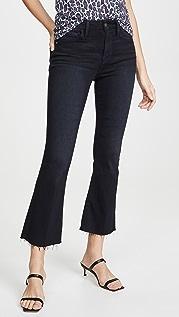 FRAME Короткие буткат-джинсы Le Crop с необработанным краем