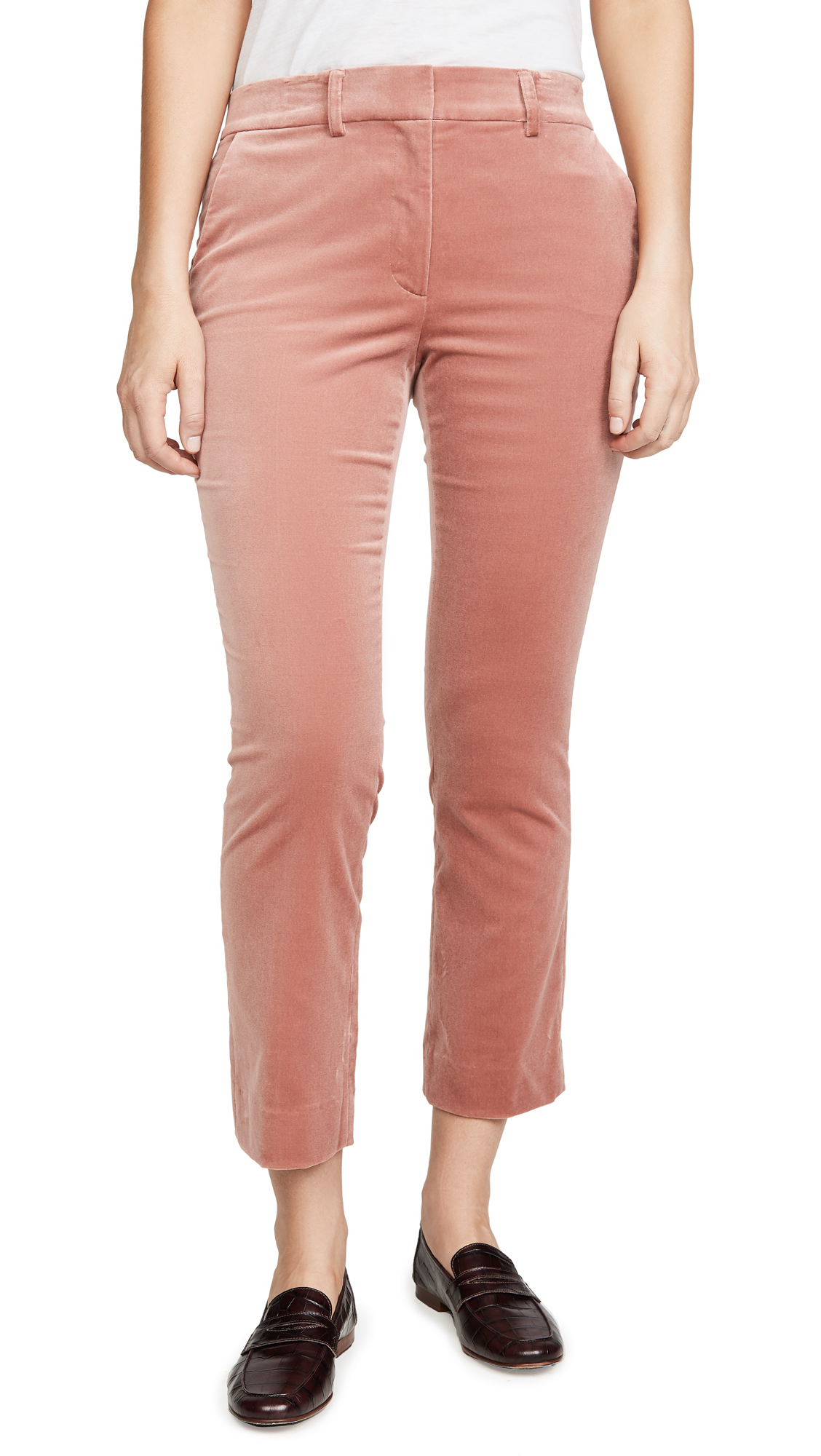 Buy FRAME online - photo of FRAME Cropped Perfect Velvet Trousers